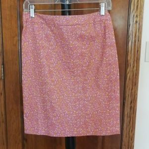 Talbot's NWT 2p pink orange pencil skirt